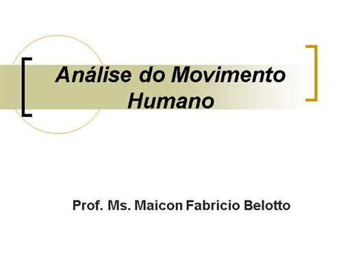 Curso Online de Análise do movimento humano