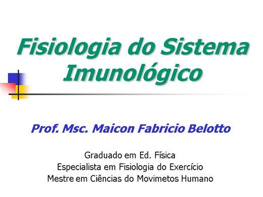 Curso Online de Sistema Imunológico e Exercício Físico
