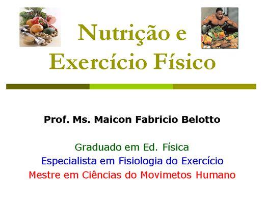 Curso Online de Nutrição Esportiva