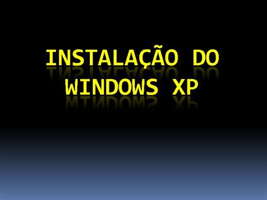 Curso Online de Instalação do Windows XP