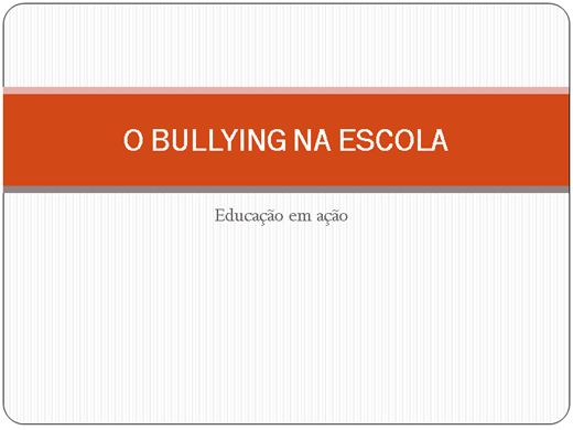 Curso Online de Bullying na Escola