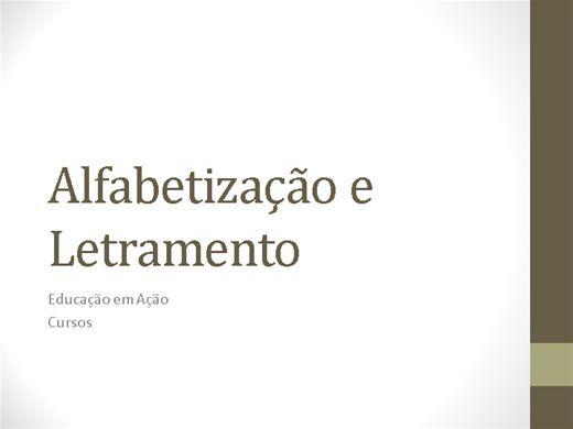 Curso Online de Alfabetização e Letramento