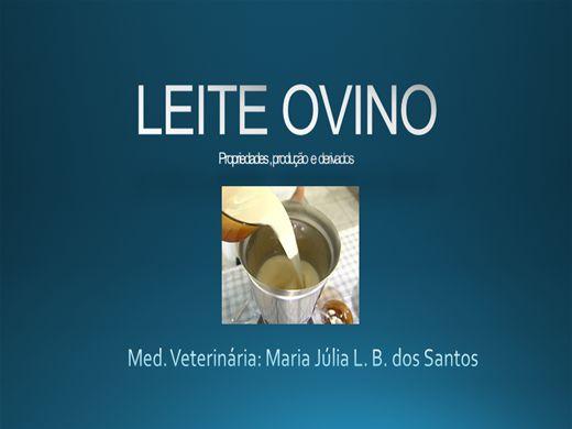 Curso Online de LEITE OVINO- Propriedades, produção e derivados.