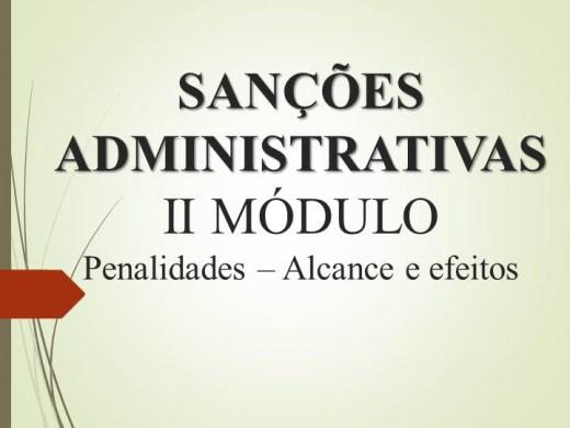 Curso Online de Sanções e Penalidades x contratos Públicos - Alcance e efeitos das Penalidades