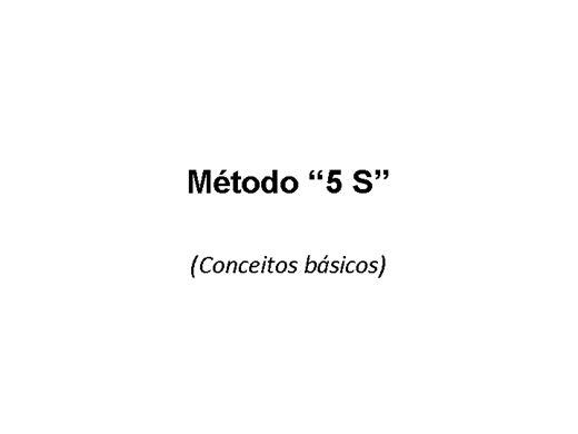Curso Online de metodo '5s' conceitos básicos