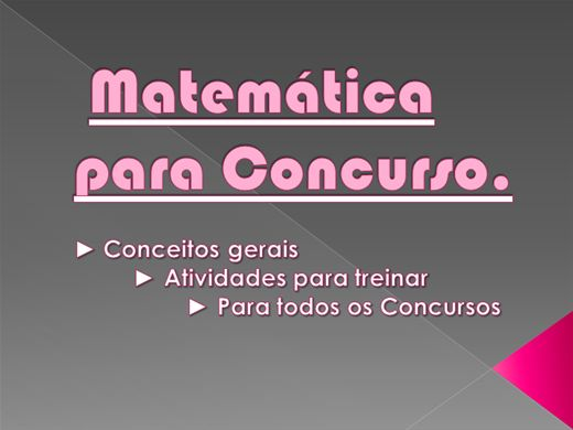 Curso Online de Matemática - Concursos Gerais