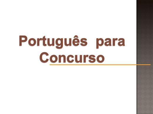 Curso Online de Português para Concurso.