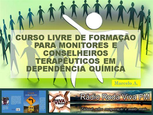 Curso Online de CURSO LIVRE DE FORMAÇÃO PARA MONITORES E CONSELHEIROS TERAPÊUTICOS EM DEPENDÊNCIA QUÍMICA