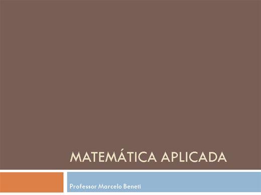 Curso Online de Matemática Aplicada