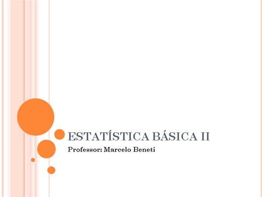 Curso Online de Estatística Básica II