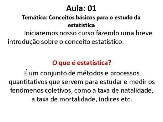 Curso Online de Estatística Básica
