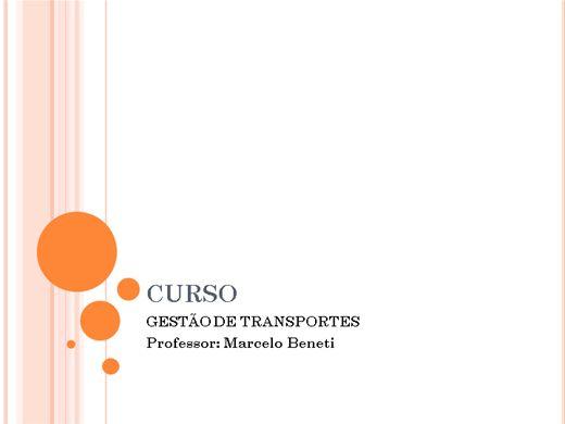 Curso Online de Gestão de Transportes