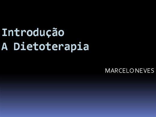 Curso Online de INTRODUÇÃO A DIETOTERAPIA