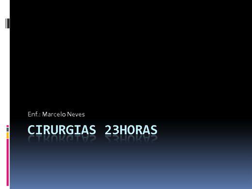 Curso Online de ENFERMAGEM CIRURGICA- 23horas/aula