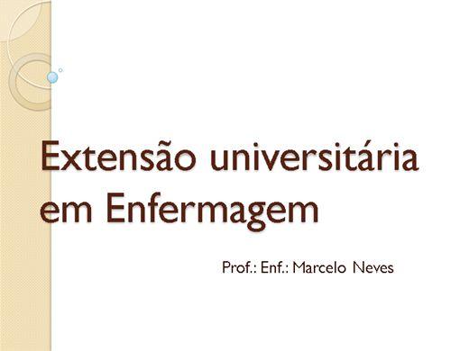 Curso Online de EXTENSÃO UNIVERSITÁRIA EM ENFERMAGEM 121 h