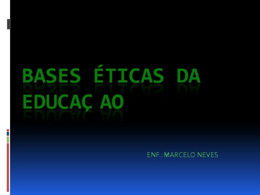 Curso Online de BASES ÉTICAS DA EDUCAÇAO