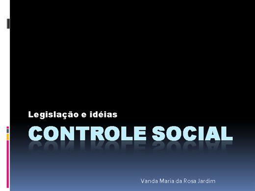 Curso Online de CONTROLE SOCIAL