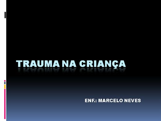 Curso Online de Trauma na Criança