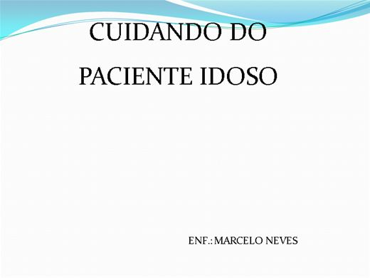 Curso Online de CUIDANDO DO IDOSO