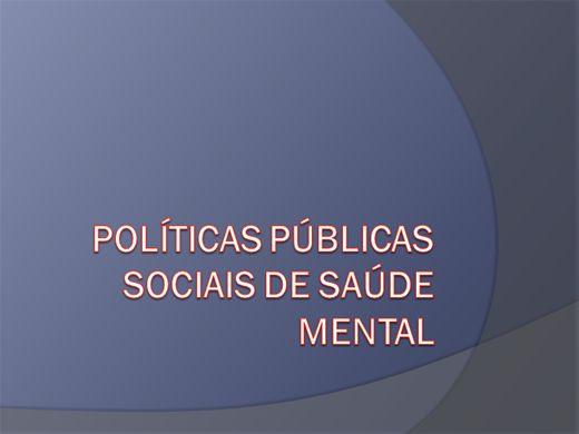 Curso Online de POLÍTICAS PÚBLICAS SOCIAIS DE SAÚDE MENTAL