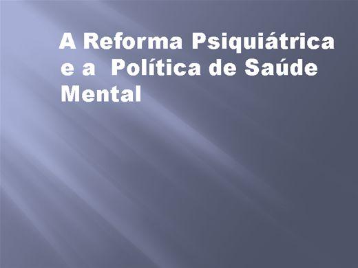 Curso Online de A Reforma Psiquiátrica e a Política de Saúde Mental