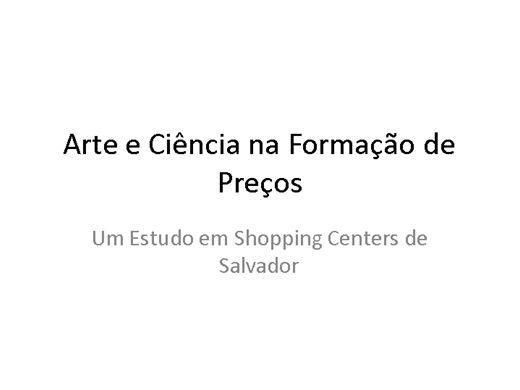 Curso Online de Arte e Ciência na Formação de Preços