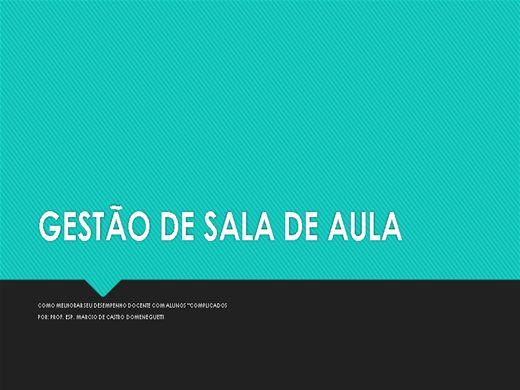 Curso Online de INTRODUÇÃO À GESTÃO DE SALA DE AULA