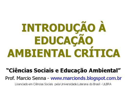 Curso Online de Introdução à Educação Ambiental Crítica
