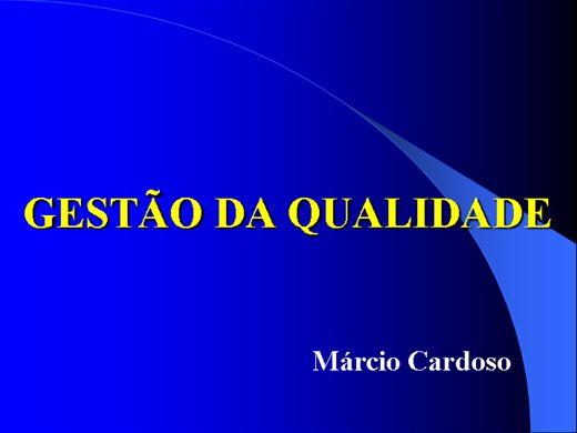 Curso Online de GESTÃO DA QUALIDADE TOTAL