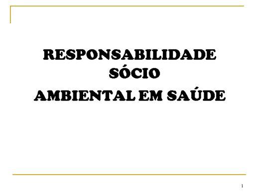 Curso Online de RESÍDUOS DE SAÚDE
