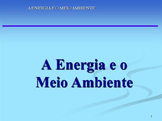 Curso Online de MEIO AMBIENTE E ENERGIA