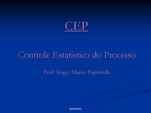 Curso Online de CEP - Controle Estatístico Processo