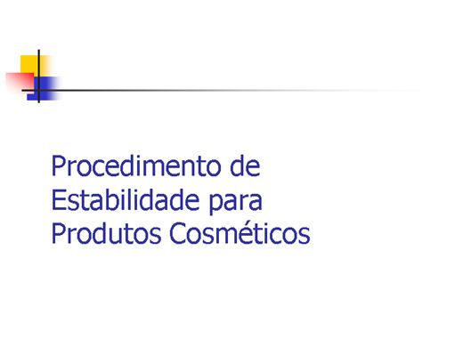 Curso Online de estudo de estabilidade de produtos cosméticos