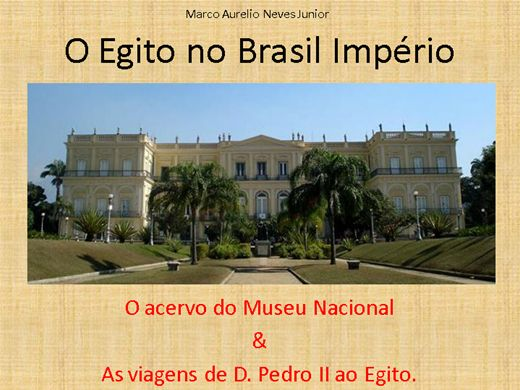 Curso Online de O Egito no Brasil Império