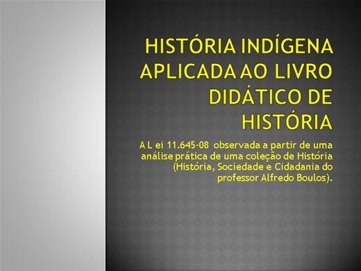 Curso Online de História Indígena aplicada ao Livro   Didático de História.
