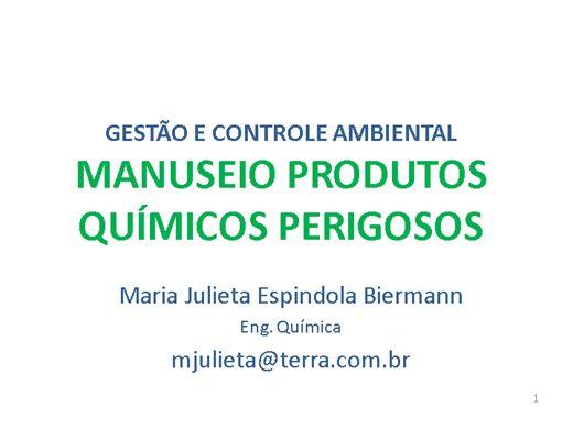 Curso Online de Manuseio de Produtos Químicos Perigosos