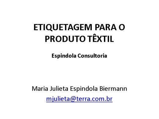Curso Online de Lei das Etiquetas Confecções