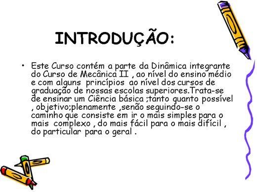 Curso Online de MECANICA II