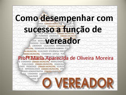 Curso Online de Como desempenhar com sucesso a função de vereador