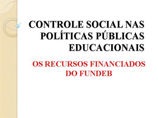 Curso Online de Controle Social nas Políticas Públicas Educacionais