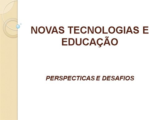 Curso Online de NOVAS TECNOLOGIAS  E EDUCAÇÃO