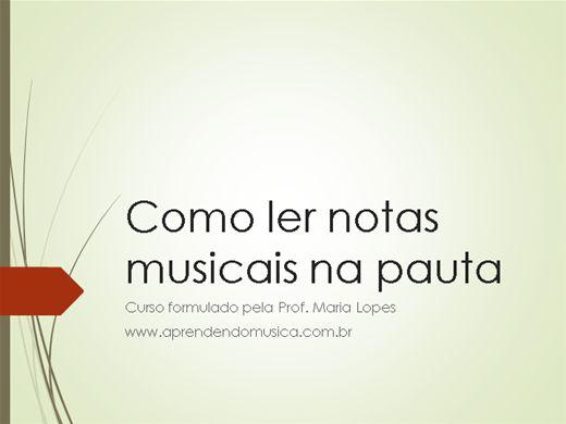 Curso Online de Como ler notas musicais na pauta