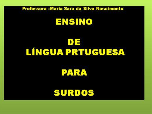 Curso Online de ENSINO   DE  LÍNGUA PORTUGUESA   PARA   SURDOS