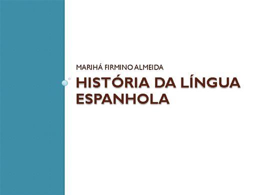 Curso Online de História da Língua Espanhola