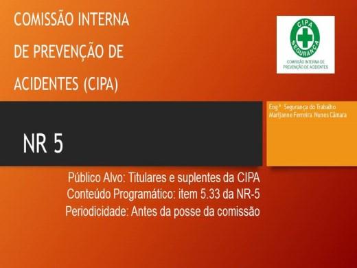 Curso Online de CIPA-NR 5