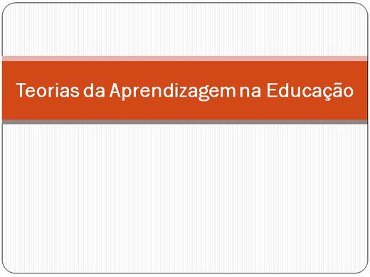 Curso Online de Teorias da Aprendizagem na Educação