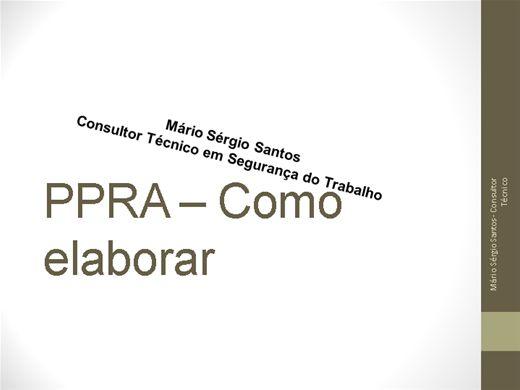 Curso Online de Como Elaborar PPRA