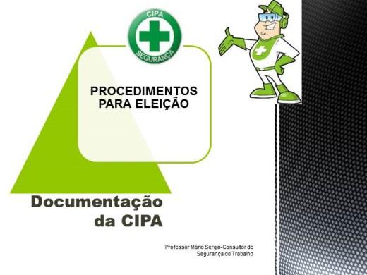 Curso Online de CIPA - PROCESSO ELEITORAL - DOCUMENTOS - PASSO A PASSO