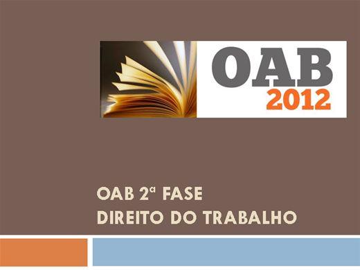 Curso Online de OAB 2ª Fase - Direito do Trabalho