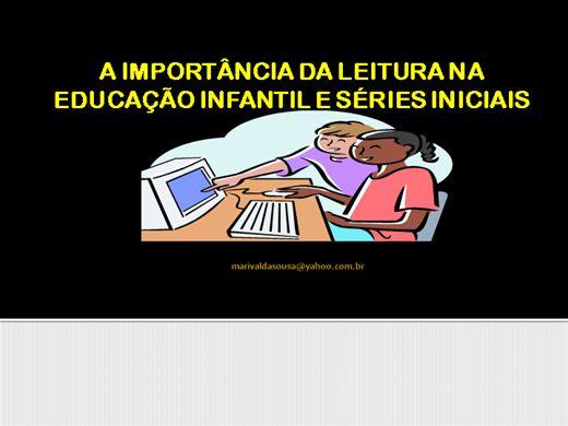Curso Online de A importância da leitura na educação infantil e series iniciais